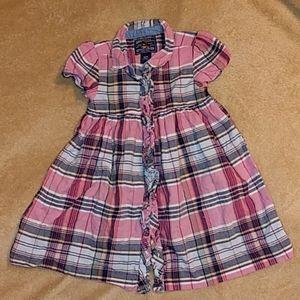 American Living Button up Toddler Girls Dress NEW